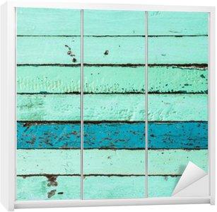 Nálepka na Skříň Vintage pozadí Modrá Dřevo