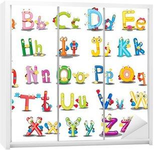 Nálepka na Skříň Znaky abecedy
