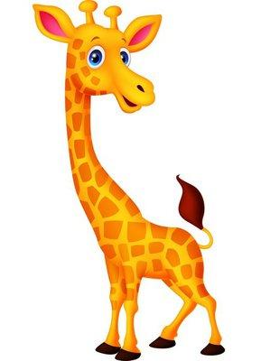 Nálepka na Stěny Cartoon žirafa