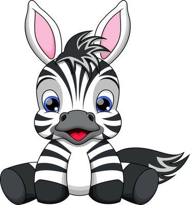 Nálepka na Stěny Cute baby zebra
