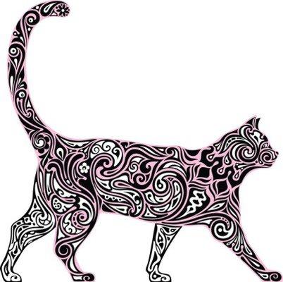Nálepka na Stěny Dekorativní kočka