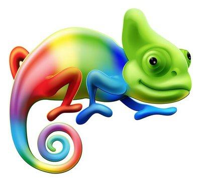Nálepka na Stěny Duhový chameleon