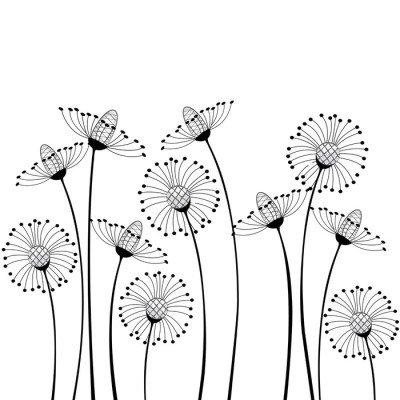 Nálepka na Stěny Luční květy