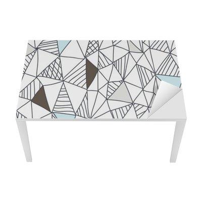 Nálepka na Stůl a Pracovní Stůl Abstraktní bezešvé doodle vzor