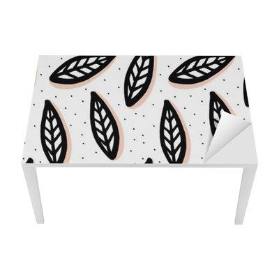 Nálepka na Stůl a Pracovní Stůl Abstraktní bezproblémové vzorek ve skandinávském stylu.