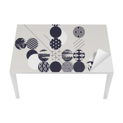 Nálepka na Stůl a Pracovní Stůl Abstraktní moderní geometrické pozadí