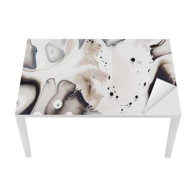 Nálepka na Stůl a Pracovní Stůl Abstraktní umělecká díla na vodě.