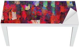 Nálepka na Stůl a Pracovní Stůl Abstraktní umění, malba