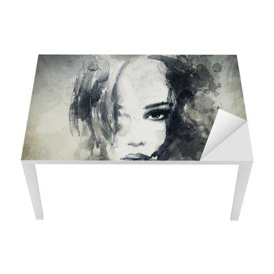 Nálepka na Stůl a Pracovní Stůl Abstraktní žena, portrét