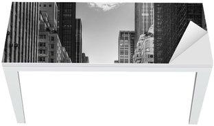 Nálepka na Stůl a Pracovní Stůl Avenue s taxíky v New Yorku.