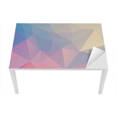 Nálepka na Stůl a Pracovní Stůl Barevné polygon