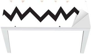 Nálepka na Stůl a Pracovní Stůl Bezešvé geometrický vzor. Minimalistický moderní styl. Abstraktní hory. Cikcak. Je to černá bílá a nahé barvy.