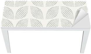 Nálepka na Stůl a Pracovní Stůl Bezešvé vzor. Ručně tažené. Květ. design pozadí