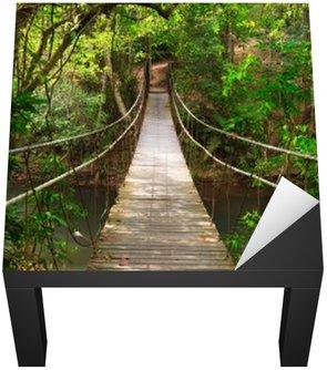 Nálepka na Stůl a Pracovní Stůl Bridge do džungle, Národní park Khao Yai, Thajsko