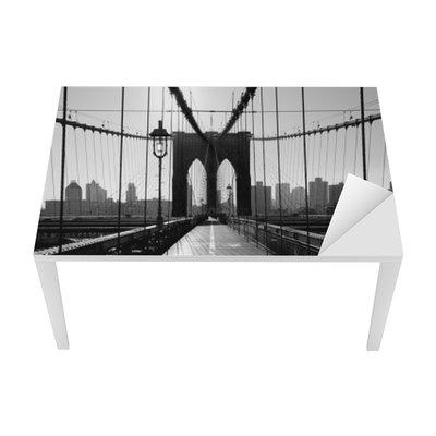 Nálepka na Stůl a Pracovní Stůl Brooklyn Bridge, Manhattan, New York City, USA