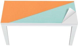 Nálepka na Stůl a Pracovní Stůl Byt Dispozice módní set: barevné ročník boty na barevném pozadí. Pohled shora.