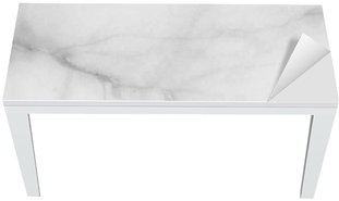 Nálepka na Stůl a Pracovní Stůl Detailní povrch mramorová podlaha textury pozadí v černé a bílé tónu