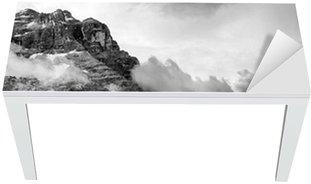 Nálepka na Stůl a Pracovní Stůl Dolomity Black and White