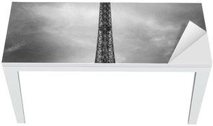 Nálepka na Stůl a Pracovní Stůl Eiffelova věž, Paříž červené auto-