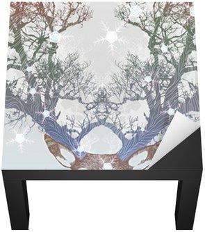 Nálepka na Stůl a Pracovní Stůl Frozen tree roh jelen