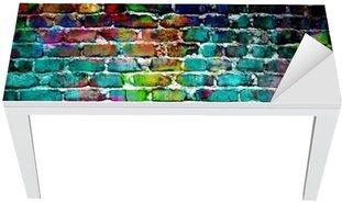 Nálepka na Stůl a Pracovní Stůl Graffiti cihlová zeď