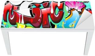 Nálepka na Stůl a Pracovní Stůl Graffiti Urban Art pozadí. Bezešvé provedení
