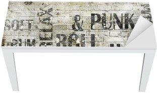 Nálepka na Stůl a Pracovní Stůl Grunge rocková hudba plakát