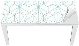Nálepka na Stůl a Pracovní Stůl Hexagone-cube géométrique