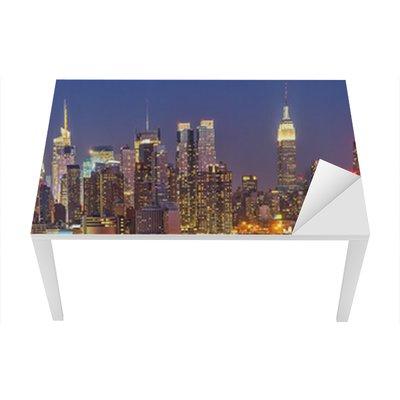 Nálepka na Stůl a Pracovní Stůl Manhattan at night