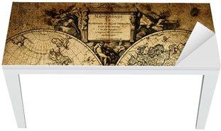 Nálepka na Stůl a Pracovní Stůl Mapa světa 1752