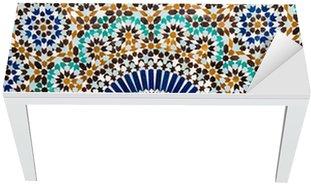 Nálepka na Stůl a Pracovní Stůl Marocké vintage dlaždice na pozadí