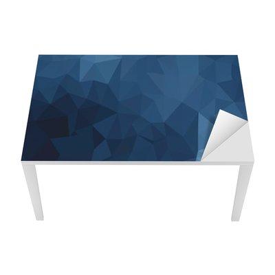 Nálepka na Stůl a Pracovní Stůl Modré geometrický vzor, trojúhelníky pozadí