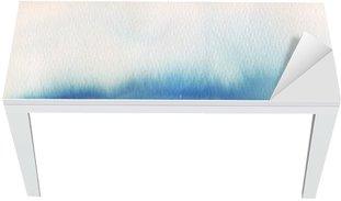 Nálepka na Stůl a Pracovní Stůl Modrý stín akvarel pozadí