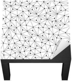 Nálepka na Stůl a Pracovní Stůl Polygonální pozadí, bezešvé vzor, čáry a kruhy