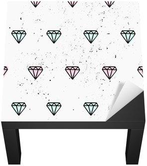 Nálepka na Stůl a Pracovní Stůl Ručně malovaná Diamonds bezešvé vzor