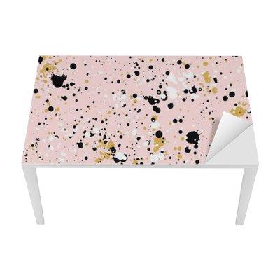 Nálepka na Stůl a Pracovní Stůl Ručně malovaná nátěr postříkání textury, bezproblémové vzor vektor