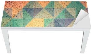 Nálepka na Stůl a Pracovní Stůl Růžová a fialová trojúhelník abstraktní pozadí obrázku