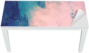 Nálepka na Stůl a Pracovní Stůl Růžová a modrá abstraktní pozadí
