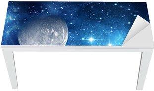 Nálepka na Stůl a Pracovní Stůl Souvislosti s planetou, měsíc a hvězdy