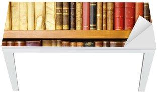 Nálepka na Stůl a Pracovní Stůl Staré knihy, knihovna