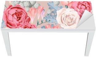 Nálepka na Stůl a Pracovní Stůl Svatební květiny bezešvé