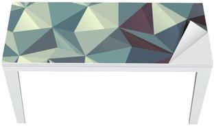 Nálepka na Stůl a Pracovní Stůl Trojúhelník abstraktní geometrický vzor
