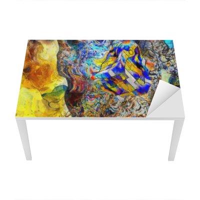 Nálepka na Stůl a Pracovní Stůl Úhlová Abstract