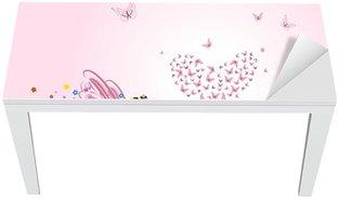 Nálepka na Stůl a Pracovní Stůl Víla s Valentýna motýlů