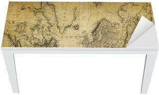 Nálepka na Stůl a Pracovní Stůl Vintage mapa světa 1814 ..