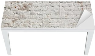 Nálepka na Stůl a Pracovní Stůl White grunge cihlová zeď na pozadí