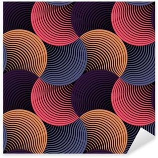 Nálepka Pixerstick Ozdobený Geometrické Petals Grid, abstraktní vektorové bezešvé vzor