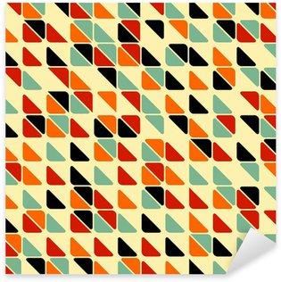 Nálepka Pixerstick Retro abstraktní bezešvé vzor s trojúhelníky