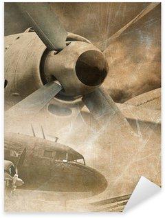 Nálepka Retro letectví, vintage pozadí