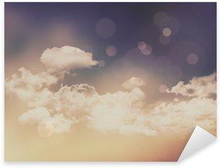 Nálepka Pixerstick Retro mraky a obloha pozadí